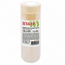 Клейкие ленты 19 мм х 20 м канцелярские STAFF, комплект 8 шт., прозрачные, гарантированная длина, 228763