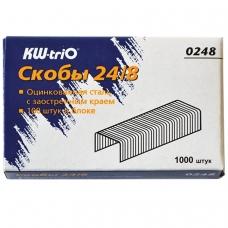 Скобы для степлера №24/8, 1000 штук, KW-trio, до 50 листов, -0248