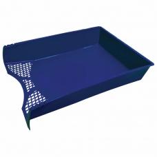 Лоток горизонтальный для бумаг STAFF 'Profit', A4 330х260х60 мм, полипропилен, синий, 237271