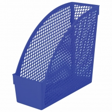 Лоток вертикальный для бумаг STAFF 'Profit', 270х100х250 мм, сетчатый, полипропилен, синий, 237250