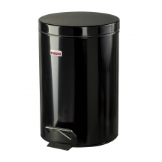 Ведро-контейнер для мусора урна с педалью ЛАЙМА 'Classic', 12 л, черное, глянцевое, металл, со съемным внутренним ведром, 602850