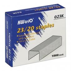 Скобы для степлера №23/20, 1000 штук, KW-trio, до 170 листов, -023K