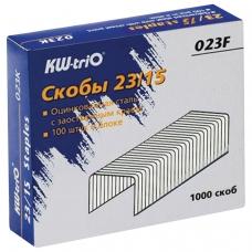 Скобы для степлера №23/15, 1000 штук, KW-trio, до 120 листов, -023F