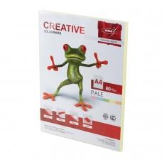 Бумага CREATIVE color Креатив, А4, 80 г/м2, 100 л., пастель желтая, БПpr-100ж