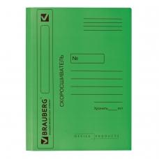 Скоросшиватель картонный мелованный BRAUBERG, гарантированная плотность 360 г/м2, зеленый, до 200 листов, 121519