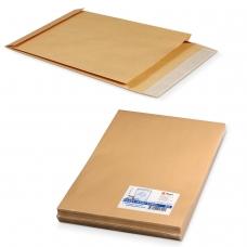 Конверт-пакет В4 объемный, комплект 25 шт., 250х353х40 мм, отрывная полоса, крафт-бумага, коричневый, на 300 листов, 391157.25