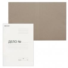 Папка 'Дело' картонная без скоросшивателя BRAUBERG, гарантированная плотность 300 г/м2, до 200 листов, 124571