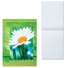 Блокнот А6, 48 л., скоба, мелованный картон обложка, HATBER, 'Живые моменты', 124х144 мм, 48Б6B1, B136447