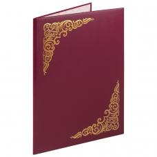 Папка адресная бумвинил бордовый, 'Виньетка', формат А4, STAFF, 129575