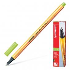 Ручка капиллярная STABILO 'Point 88', НЕОНОВАЯ ЗЕЛЕНАЯ, корпус оранжевый, линия письма 0,4 мм, 88/033