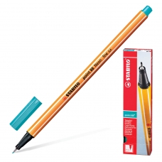 Ручка капиллярная STABILO 'Point 88', ГОЛУБОВАТО-БИРЮЗОВАЯ, корпус оранжевый, линия письма 0,4 мм, 88/51