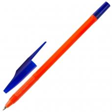 Ручка шариковая масляная STAFF 'Flare', СИНЯЯ, корпус оранжевый, узел 1 мм, линия письма 0,7 мм, OBP101
