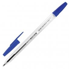 Ручка шариковая STAFF C-51, СИНЯЯ, корпус прозрачный, узел 1 мм, линия письма 0,5 мм, BP108