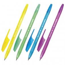 Ручка шариковая BRAUBERG 'X-333' NEON, СИНЯЯ, корпус тонированный ассорти, узел 0,7 мм, линия письма 0,35 мм, BP154