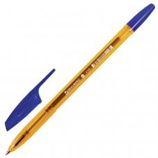 Ручка шариковая BRAUBERG 'X-333' AMBER, СИНЯЯ, корпус тонированный оранжевый, узел 0,7 мм, линия письма 0,35 мм, BP157