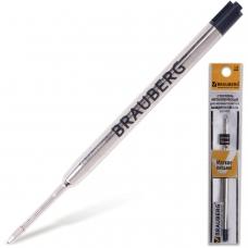 Стержень шариковый BRAUBERG, металлический, 98 мм, тип PARKER, 1 мм, упаковка с подвесом, черный, 170200