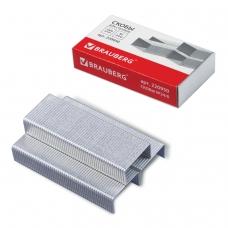 Скобы для степлера BRAUBERG № 24/6, 1000 штук, в картонной коробке, до 30 листов, 220950