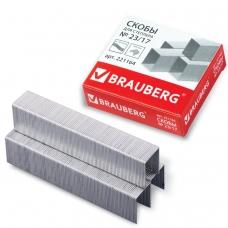 Скобы для степлера BRAUBERG № 23/17, 1000 штук, в картонной коробке, до 120 листов, 221164