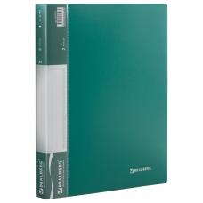 Папка на 2 кольцах BRAUBERG 'Стандарт', 25 мм, зеленая, до 170 листов, 0,8 мм, 221613