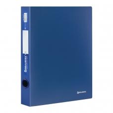 Папка на 2 кольцах BRAUBERG 'Стандарт', 40 мм, синяя, до 300 листов, 0,9 мм, 221617