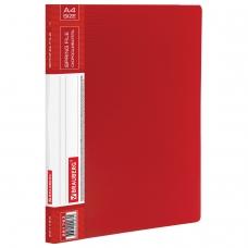 Папка с металлическим скоросшивателем и внутренним карманом BRAUBERG 'Contract', красная, до 100 л., 0,7 мм, 221783