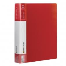 Папка на 2 кольцах BRAUBERG 'Contract', 35 мм, красная, до 270 листов, 0,9 мм, 221793