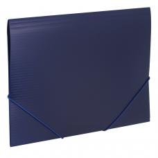 Папка на резинках BRAUBERG 'Contract', синяя, до 300 листов, 0,5 мм, бизнес-класс, 221797