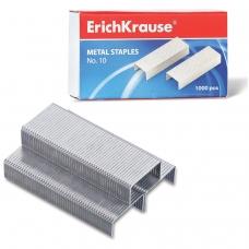 Скобы для степлера ERICH KRAUSE № 10, 1000 штук, в картонной коробке, до 20 листов, 1188