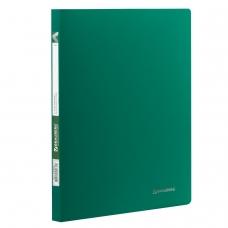 Папка с пластиковым скоросшивателем BRAUBERG 'Office', зеленая, до 100 листов, 0,5 мм, 222642