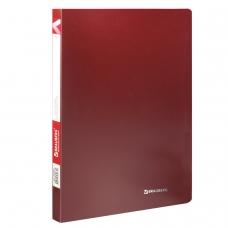 Папка с пластиковым скоросшивателем BRAUBERG 'Office', красная, до 100 листов, 0,5 мм, 222643