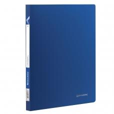 Папка с пластиковым скоросшивателем BRAUBERG 'Office', синяя, до 100 листов, 0,5 мм, 222644