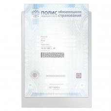 Папка-файл для медицинского полиса, 223х158 мм, без отверстий, 0,12 мм, 'ДПС', 3127