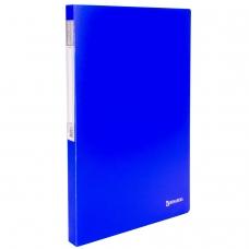 Папка с металлическим скоросшивателем и внутренним карманом BRAUBERG 'Neon', 16 мм, синяя, до 100 листов, 0,7 мм, 227467