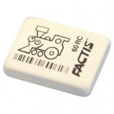 Резинка стирательная FACTIS 60 RC Испания, прямоугольная, 32х24х7 мм, мягкая, синтетический каучук, CNF60RC