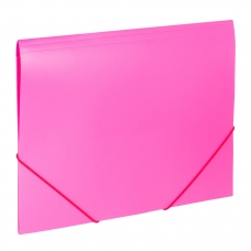 Папка на резинках BRAUBERG 'Office', розовая, до 300 листов, 500 мкм, 228083