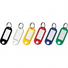 Брелоки для ключей BRAUBERG, комплект 12 шт., длина 50 мм, инфо-окно 30х15 мм, 231151