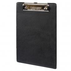 Доска-планшет BRAUBERG 'NUMBER ONE A5', с верхним прижимом, А5, 15,8х23 см, картон/ПВХ, черная, 232224