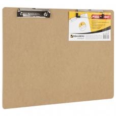 Доска-планшет BRAUBERG 'Eco', горизонтальная, с двумя прижимами, А3, 44х32 см, МДФ, 3 мм, 232227