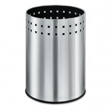 Корзина металлическая для мусора ЛАЙМА 'Bionic', 12 л, матовая, перфорированная, несгораемая, 232268