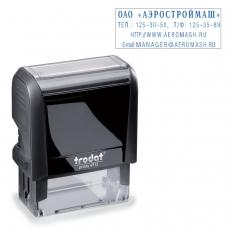 Оснастка для штампа, оттиск 47х18 мм, синий, TRODAT 4912 P4, подушка в комплекте, корпус черный, 52877