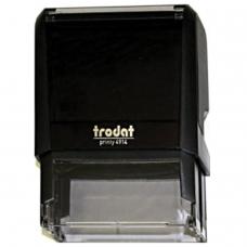 Оснастка для штампа, оттиск 64х26 мм, синий, TRODAT 4914 P4, подушка в комплекте, корпус черный, 52826