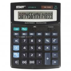 Калькулятор STAFF настольный STF-888-14, 14 разрядов, двойное питание, 200х150 мм, 250182