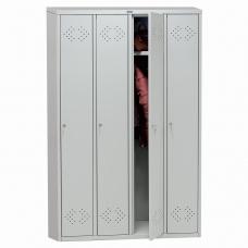 Шкаф металлический для одежды ПРАКТИК 'LS-41', четырехсекционный, 1830х1130х500 мм, 55 кг, разборный, LSLE–41