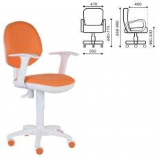 Кресло CH-W356AXSN с подлокотниками, оранжевое, пластик белый, CH-W356AXSN/15