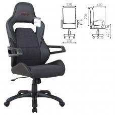 Кресло компьютерное BRABIX 'Nitro GM-001', ткань, экокожа, черное