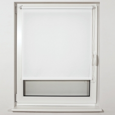 Штора рулонная светопроницаемая BRABIX 40х175 см, текстура 'Лён', белый, 605970