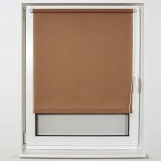 Штора рулонная светопроницаемая BRABIX 40х175 см, текстура 'Лён', темно-бежевый, 605971