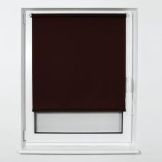 Штора рулонная светопроницаемая BRABIX 40х175 см, текстура 'Лён', коричневый, 605972
