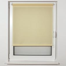Штора рулонная светопроницаемая BRABIX 60х175 см, текстура 'Лён', кремовый, 605983