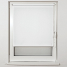 Штора рулонная светопроницаемая BRABIX 60х175 см, текстура 'Лён', белый, 605985